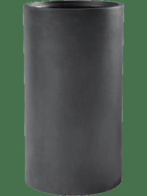 Basic Cylinder Dark Grey (met inzetbak) 30 - Plantenbak