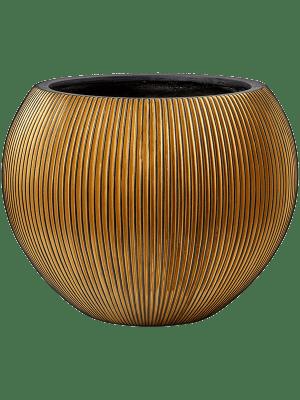 Capi Nature Groove Gefaß Kugel Gold 40 - Pflanzgefasse