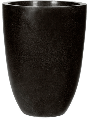Capi Lux Vase elegance low II black 36 - Planter