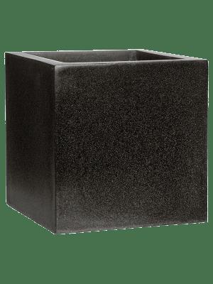 Capi Lux Pot vierkant IV zwart  - Plantenbak