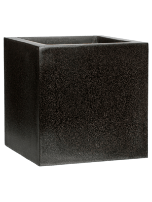 Capi Lux Topf quadratisch VI Schwarz  - Pflanzgefasse