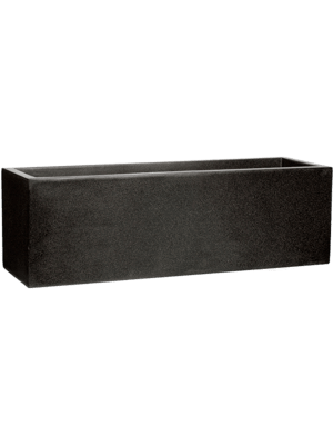 Capi Lux Pot rectangle bas II noir  - Bac