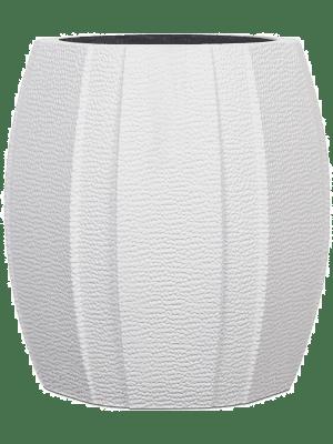 Capi Lux Vase elegant wide arc I Weiss 12 - Pflanzgefasse