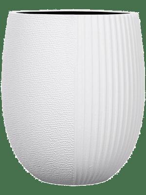 Capi Lux Vase elegant high I split Weiss 12 - Pflanzgefasse