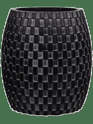 Capi Nature Vaas elegant wide II wave zwart 12 - Plantenbak