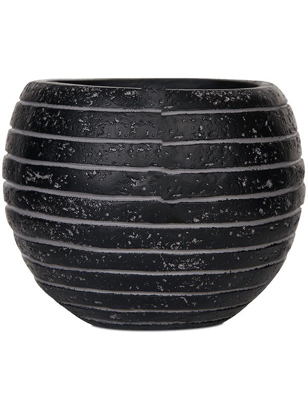 capi Capi Nature Row Vaas bol III zwart 17 - Plantenbak - Main image