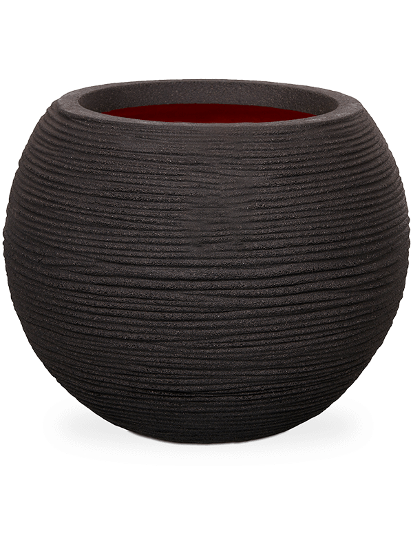 capi Capi Nature Rib NL Vase Vase ball black 62 - Planter - Main image