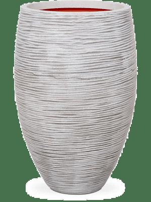 Capi Nature Rib NL Vase Vase elegant deluxe ivory 56 - Planter
