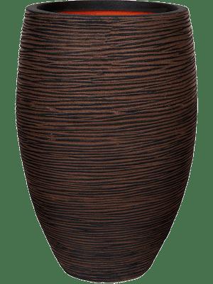 Capi Nature Rib NL Vase Élégant Deluxe Brun Foncé 40 - Bac