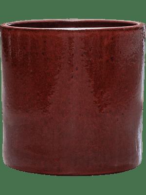 Cylinder Pot Deep Red 30 - Planter