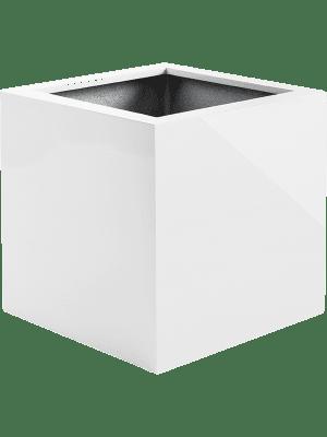 Argento Cube Shiny White  - Pflanzgefasse