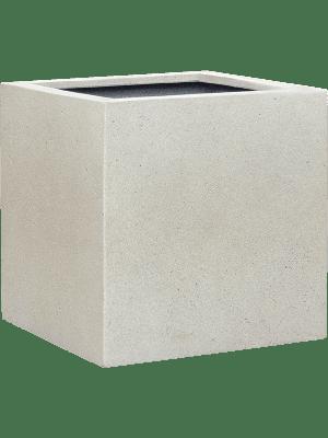 Grigio Cube Antique White-concrete  - Pflanzgefasse