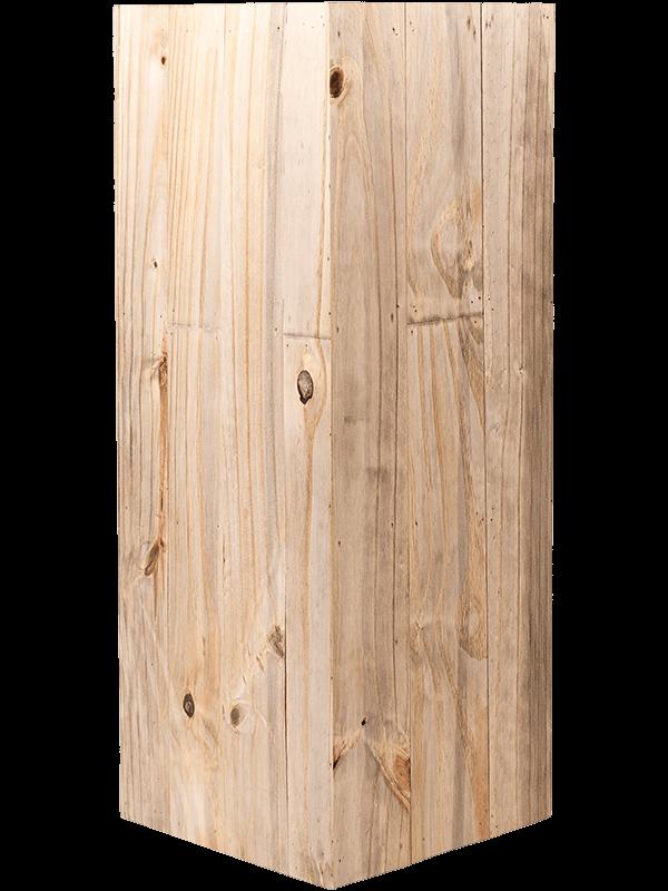 luca lifestyle Marrone High Cube Dark Flame Wood  - Pflanzgefasse - Main image