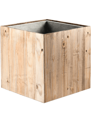 luca lifestyle Marrone Cube Dark Flame Wood  - Plantenbak