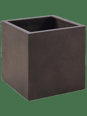 Grigio Cube Rusty Iron-concrete  - Pflanzgefasse