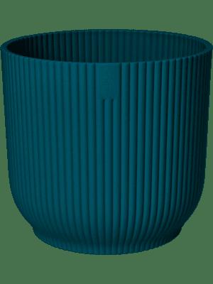 Vibes Fold Round Deep Blue 22 - Pflanzgefasse