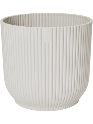 Vibes Fold Round Silky White 22 - Pflanzgefasse