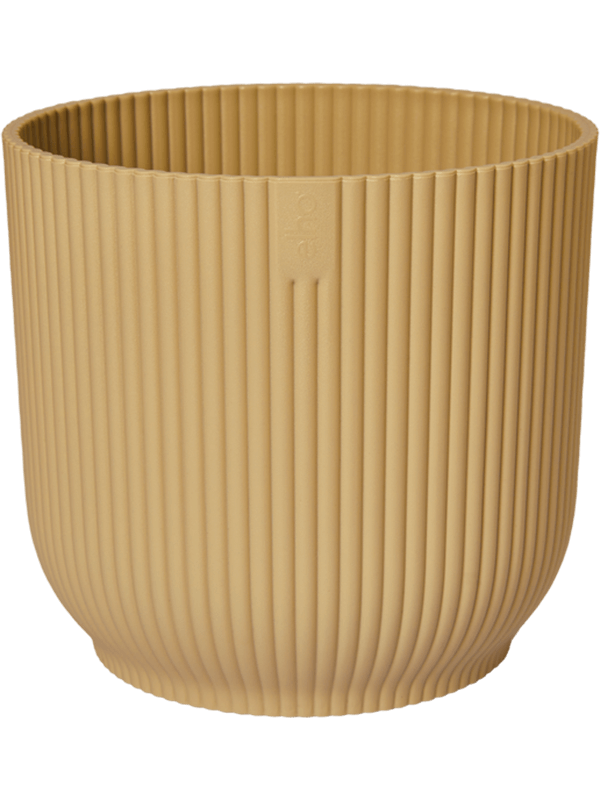elho Vibes Fold Round Butter Yellow 22 - Planter - Main image