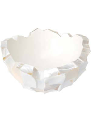 Shell Mother of pearl white 70 - Pflanzgefasse
