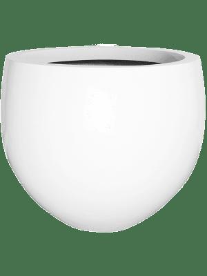 Fiberstone Glossy white jumbo orb M 110 - Pflanzgefasse