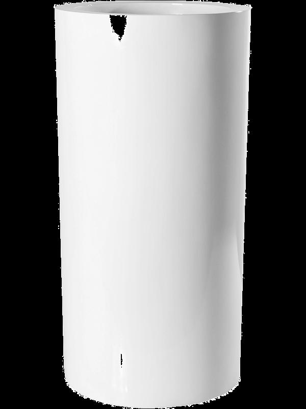 pottery pots Fiberstone Glossy white klax 40 - Planter - Main image