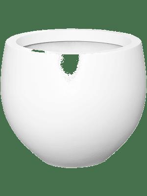 Fiberstone Matt white jumbo orb M 110 - Pflanzgefasse