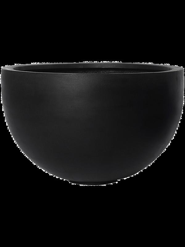 pottery pots Fiberstone Bowl black 60 - Bac - Main image