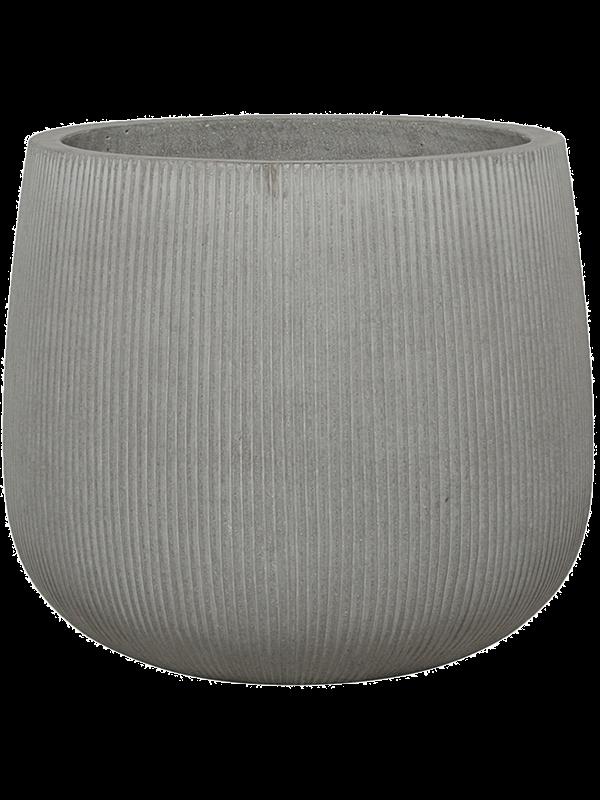 pottery pots Ridged Vertically Pax M Cement 40 - Pflanzgefasse - Main image
