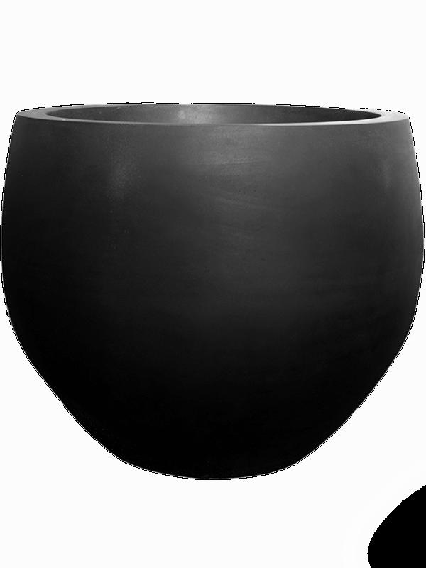 pottery pots Fiberstone Jumbo black orb L 133 - Pflanzgefasse - Main image