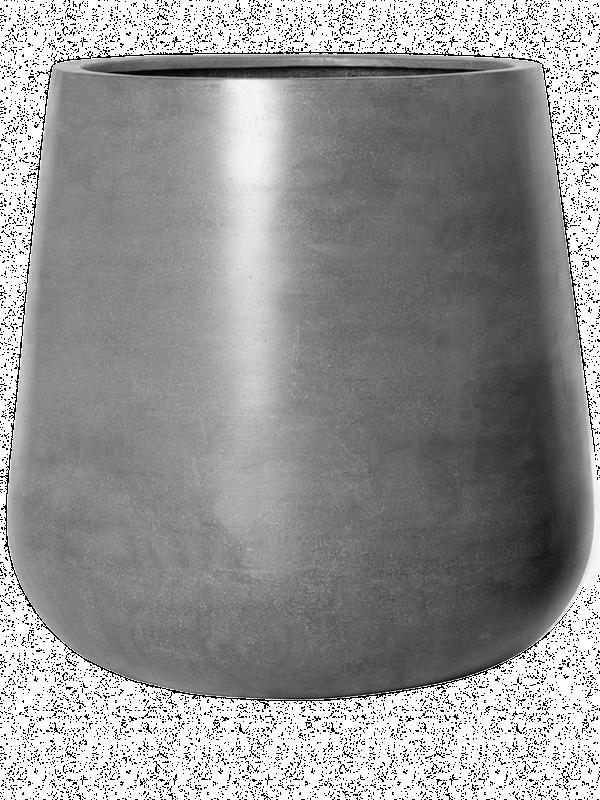 pottery pots Fiberstone Pax grey M 44 - Bac - Main image