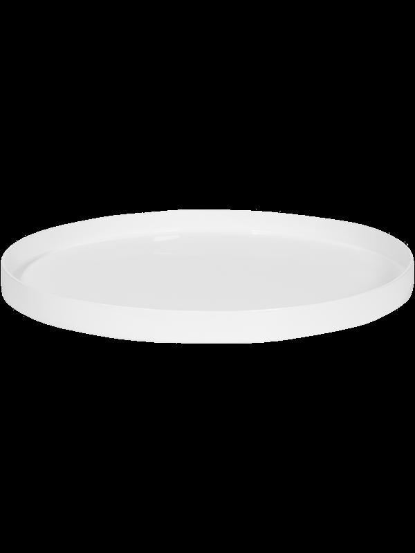 Fiberstone Saucer Round S Glossy White - Main image