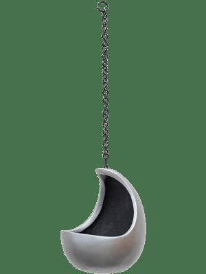 Gradient Hanging cocoon matt grey 20 - Plantenbak