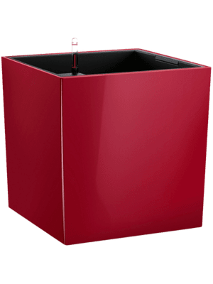 Lechuza Cube Premium All inclusive set scarlet red  - Pflanzgefasse