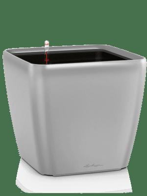Lechuza Quadro LS All inclusive set zilver  - Plantenbak