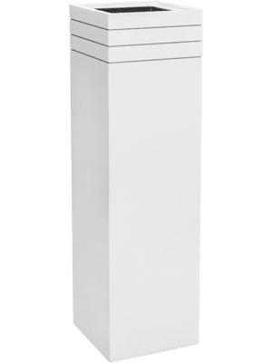 Line-Up Square Matt White (with liner)  - Planter