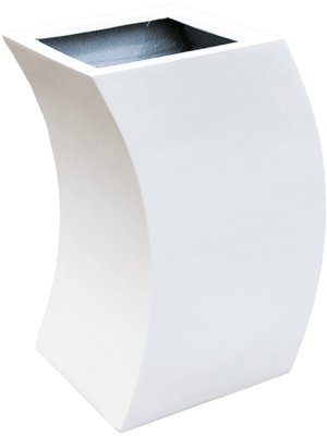 Livingreen Curvy marilyn 1 polished brilliant white  - Planter