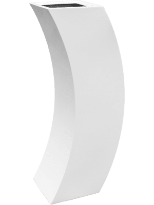 Livingreen Curvy marilyn 3 polished brilliant white  - Pflanzgefasse