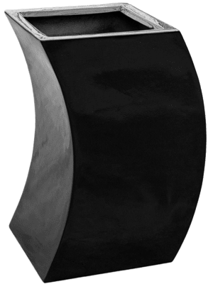 Livingreen Curvy marilyn 1 polished jet black  - Planter