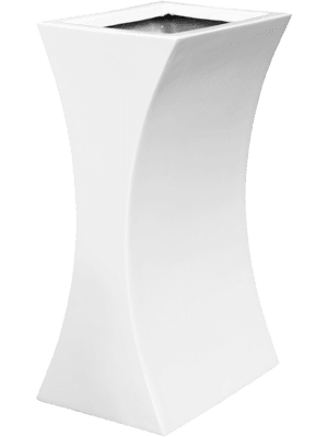 Livingreen Curvy sophia 1 polished brilliant white  - Planter