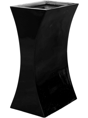 Livingreen Curvy sophia 1 polished jet black  - Planter