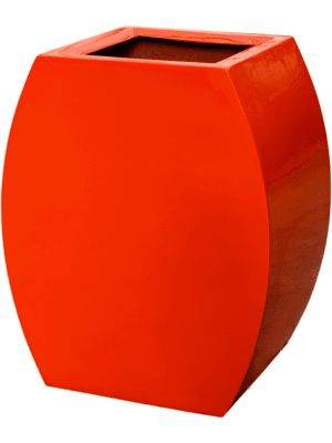 Livingreen Curvy ursula 1 polished flame red  - Planter