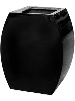 Livingreen Curvy ursula 1 polished jet black  - Planter