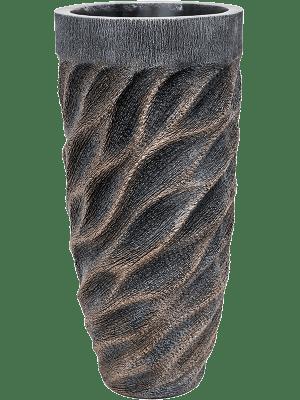 Luxe Lite Universe Wave Partner bronze 33 - Pflanzgefasse