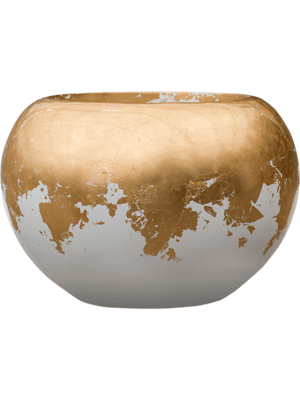 Luxe Lite Glossy Globe white-gold 39 - Pflanzgefasse