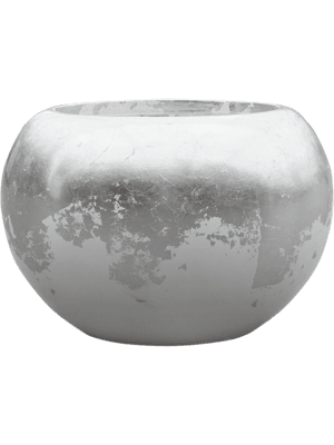 Luxe Lite Glossy Globe white-silver 39 - Pflanzgefasse