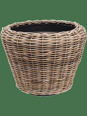 Drypot Rattan Round grey outdoor 65 - Planter