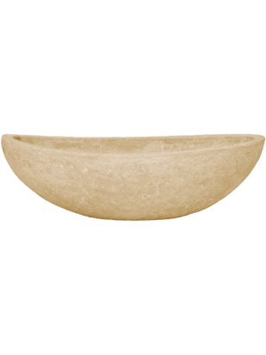 Polystone Plain Boat Natural  - Planter
