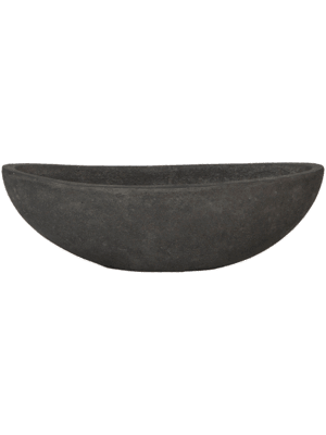 Polystone Plain Boat Smoke  - Planter