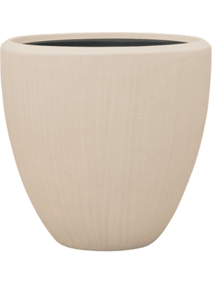 Polystone Plain Couple Natural (met inzetbak) 50 - Plantenbak