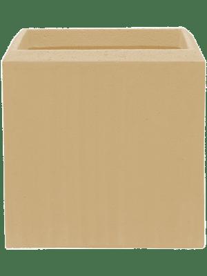 Polystone Plain Cube Natural  - Planter